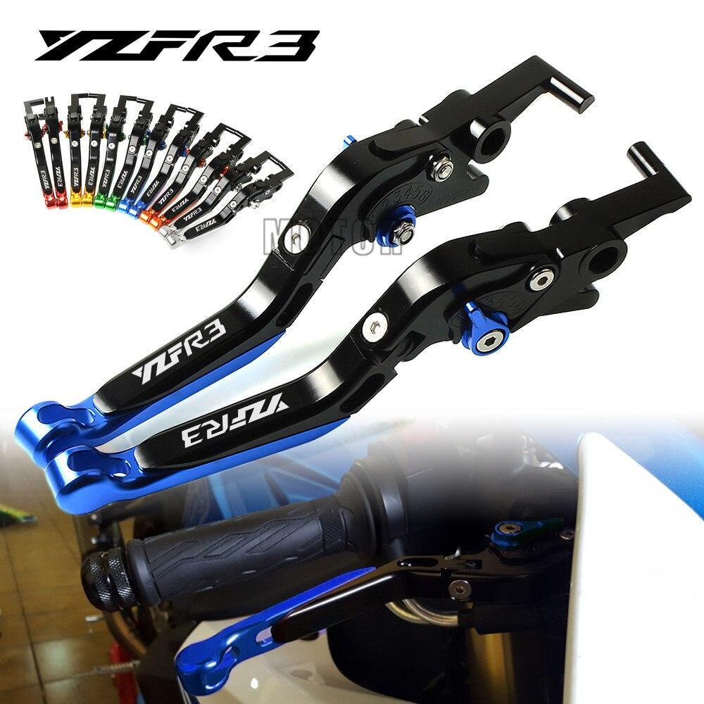 extensible Pour Yamaha YZF R3/2015/2016 BJ Global Leviers de freins d/'embrayage en aluminium pour moto R/églable pliable