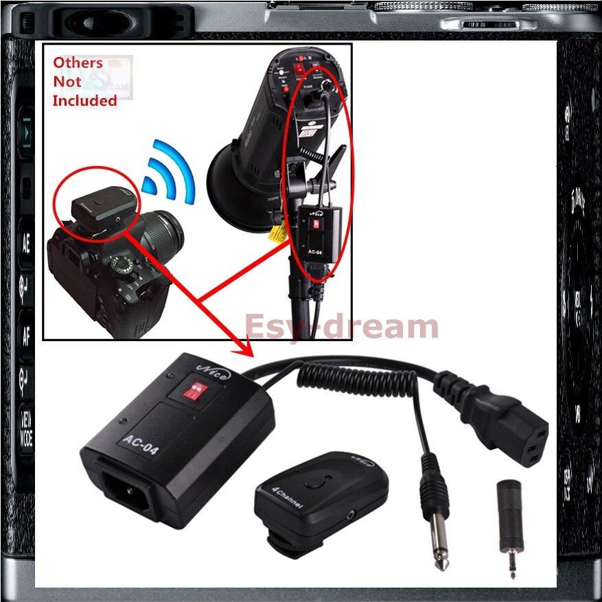 Câmera de estúdio AC-04 Disparador de Flash 4 Canais de Rádio Sem Fio Para Oubao NiceFoto Boling Como AT-04 Godox Jinbei PS066