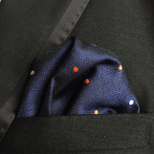 hot deal buy fashion polyester paisley handkerchiefs for mens pocket square towel men's business suits mixed-color ploka dots pocket hankies