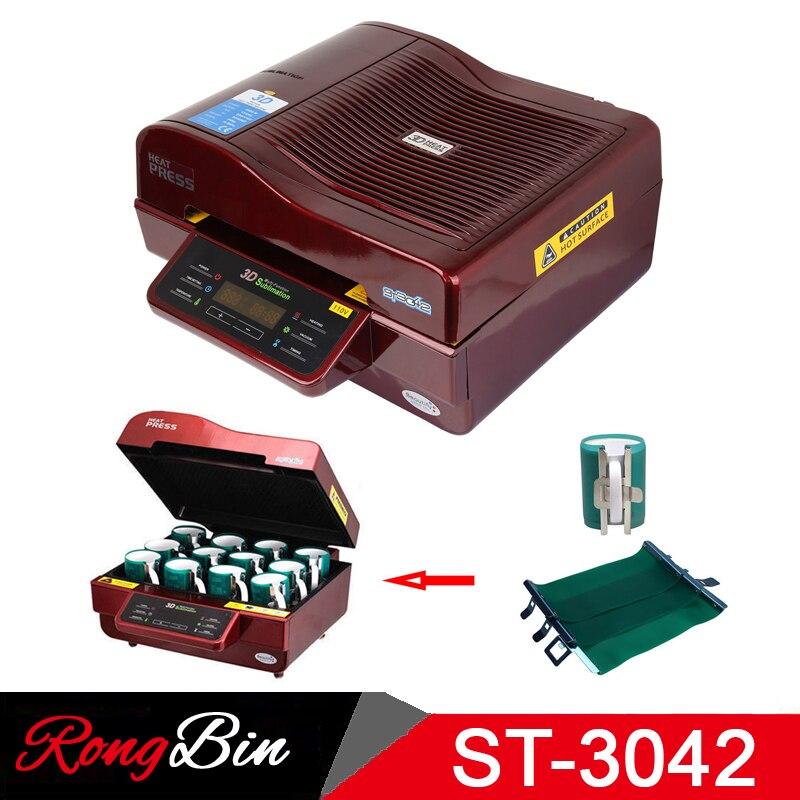 ST 3042 Paket 3D Vakuum Presse Maschine Wärme Drücken Drucker 3D Sublimation Hitze Presse Maschine für Fällen Tassen Teller Gläser - 2