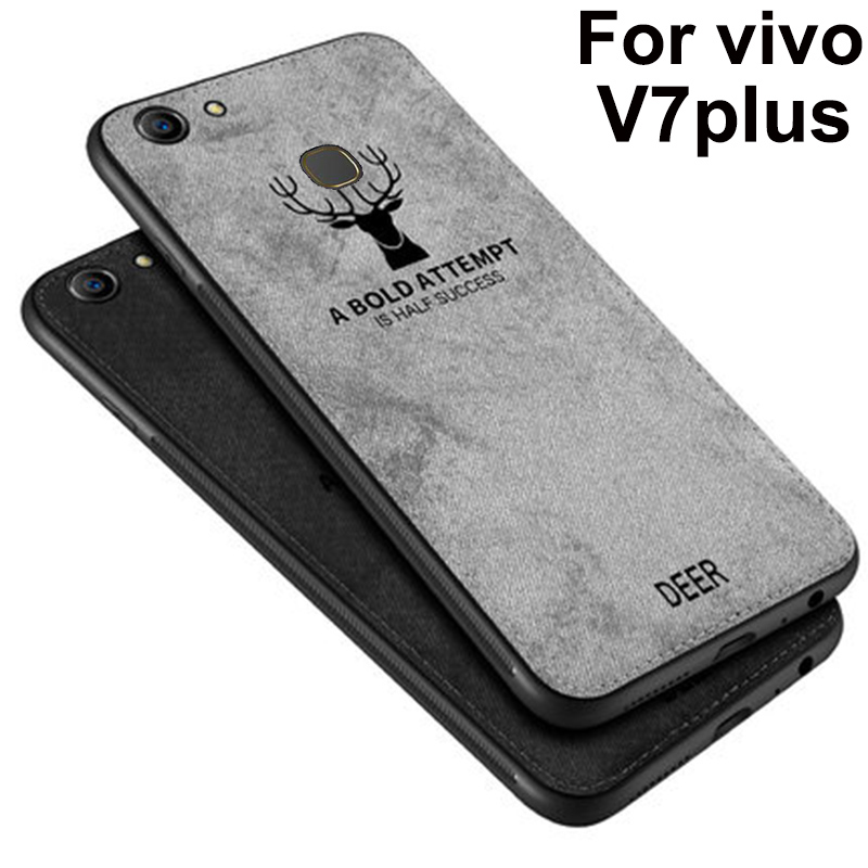 For <font><b>VIVO</b></font> V7 plus <font><b>Case</b></font> Soft phone <font><b>case</b></font> For <font><b>vivo</b></font> <font><b>V7plus</b></font> <font><b>Cases</b></font> Protection Back Cover vivoV7 plus Cloth + TPU phone <font><b>case</b></font> Shell coque image