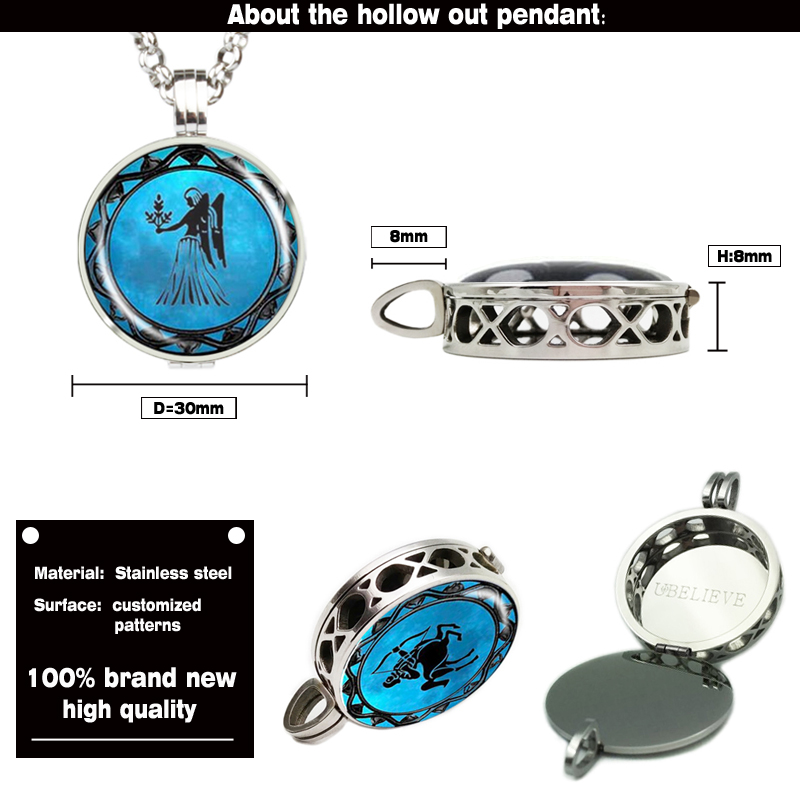 Fashion Jewelry Hollow Photo Picture Diffuser Locket Pendant With Felt Pad Classic Hollow Perfume Diffuser Locket (only locket)