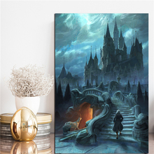Morning Light In The Palace Beauty And Beast Art Canvas Poster Painting Wall Picture Print Home Bedroom Decoration Framework