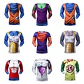 2016 Dragon Ball Z Vegeta long sleeve T Shirts  Anime Super Saiyan Goku/Majin Buu/Piccolo/Cell DBZ T shirt 3D Tees