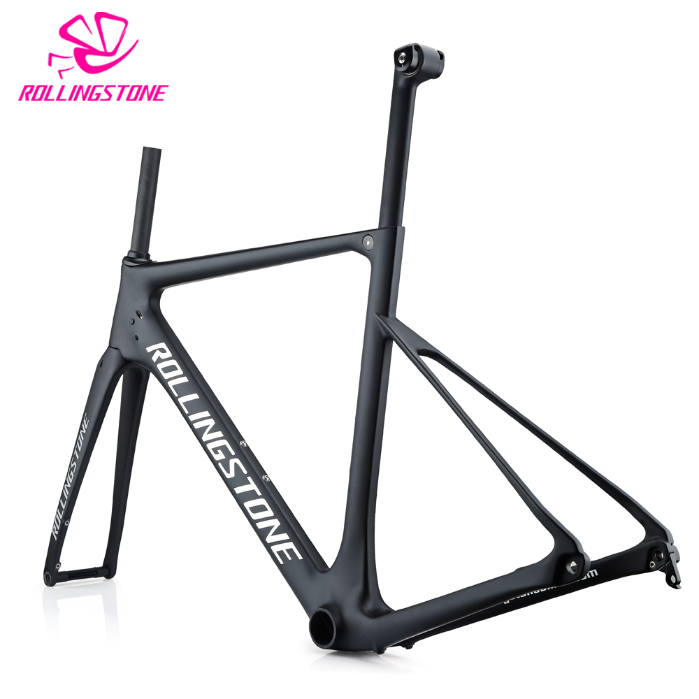 все цены на 2018 carbon bicycle frames road bike frame disc brake frameset T800 ultralight 1100g 48cm 51cm 54cm seat post matt balck racing онлайн