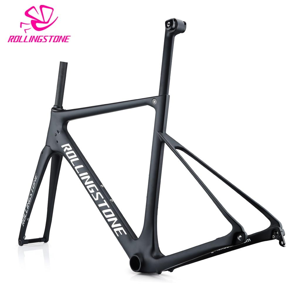 2018 Carbon Bicycle Frames Road Bike Frame Disc Brake Frameset T800 Ultralight 1100g 48cm 51cm 54cm Seat Post Matt Balck Racing