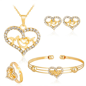 HC Fashion Gold Color Heart Ki