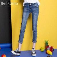 BetiKama Jeans Denim Fashion Sexy Vrouwen Denim Skinny Broek Mid Taille Dames Jeans Broeken Cool Denim Jeans voor Meisje 3XL