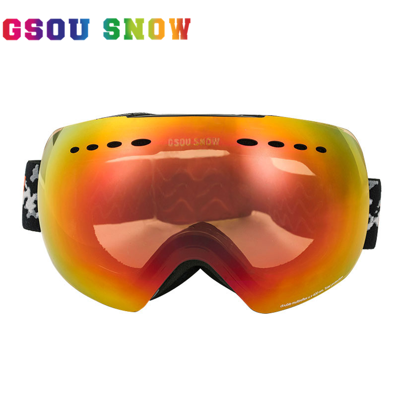 GSOU SNOW font b Ski b font Googles For Men and Women Outdoor Multicolor Snowboard Googles