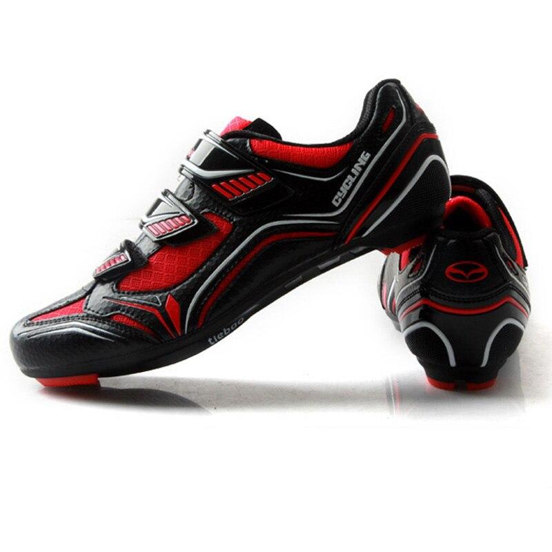 Tiebao Route Vélo Chaussures Chaussures De Vélo De Route Vélo Sneakers de Sport Racing Respirant Vélo VTT Chaussures SPD, SPD-SL LOOK-KEO