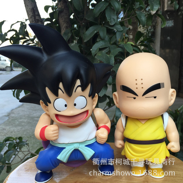 21 cm 2 pçs/set Dragon Ball Z Goku Kuririn ação PVC figura brinquedos coleção figuras brinquedos para presente de natal