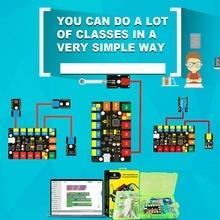Keyestudio EASY PLUG RJ11 супер стартовый Обучающий набор для Arduino STEM EDU/совместим с кодированием блоков Mixly