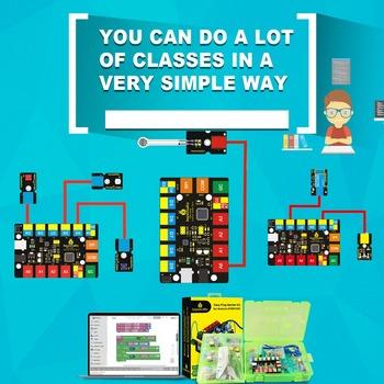 Keyestudio EASY PLUG zestaw do nauki Super startowego RJ11 do Arduino STEM EDU kompatybilny z kodowaniem blokowym Mixly tanie i dobre opinie Nowy Układ scalony napędu Super Starter Learning Kit Do zabawki elektrycznej 0-40