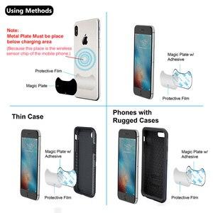 Image 4 - Yianerm المغناطيسي تشى شاحن لاسلكي حامل هاتف السيارة 10 واط سريع قاعدة شحن لاسلكيّة ل iPhone Xs Max 8 Plus سامسونج نوت 9
