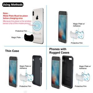 Image 4 - Yianerm מגנטי צ י אלחוטי מטען לרכב טלפון מחזיק 10W מהיר אלחוטי טעינת Stand עבור iPhone Xs מקסימום 8 בתוספת סמסונג הערה 9