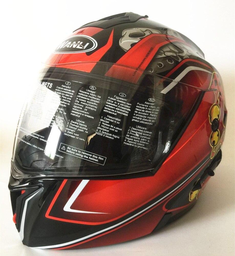 Мото rcycle шлемы безопасный двойной козырек ECE DOT флип-шлем мото гоночный 4 сезона мото r цикл Мото шлем s m l xl XXL
