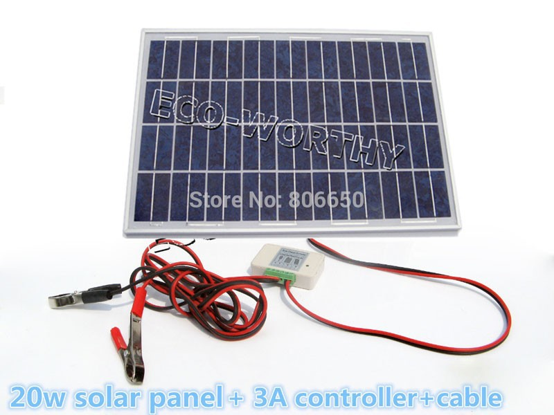 -source-20W-12V-Polycrystalline-silicon-Solar-Panel-solar-system-solar-battery-used-for-12V-photovoltaic