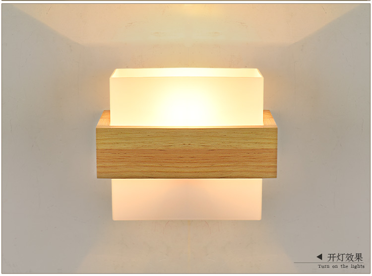 HTB1vRHcbB1D3KVjSZFyq6zuFpXaj - Nordic Wall Wood Light Glass Lampshade Corridor Balcony Bedside LED Side Wall Lamps Interior for Home Decor