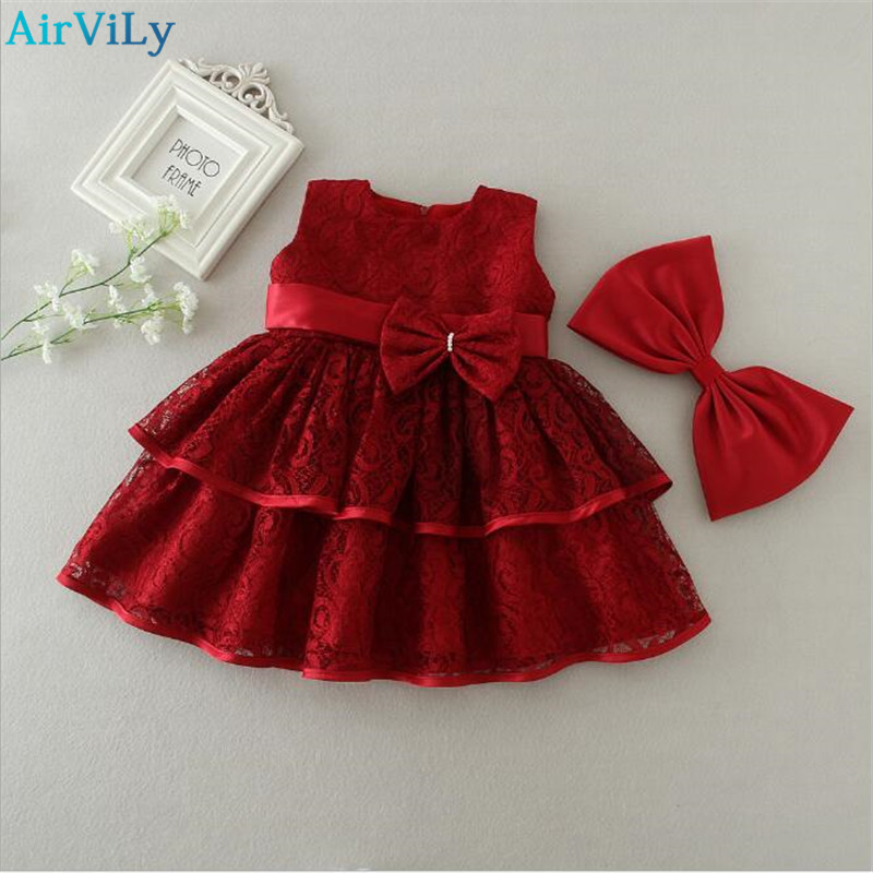1 2 years Baby Girl Birthday Dress Vintage Little Girl Baby Frocks Designs Toddler Girl Infant Kids Party Clothes Baptism Dress