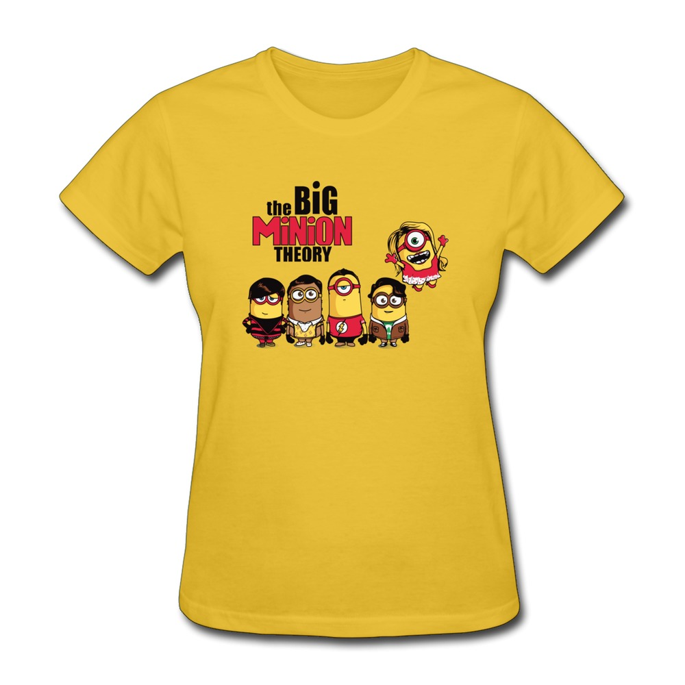 Cool TSHIRT The Big Minion Theory Women's T Shirt On Sale Woman Cotton Tee