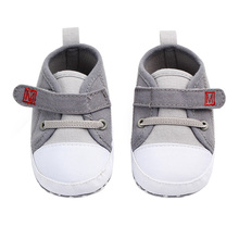 Canvas Baby Boy Shoes Cotton Solid Newborn First Walkers Soft Soled Non-slip Footwear Baby Shoes for 0-12M