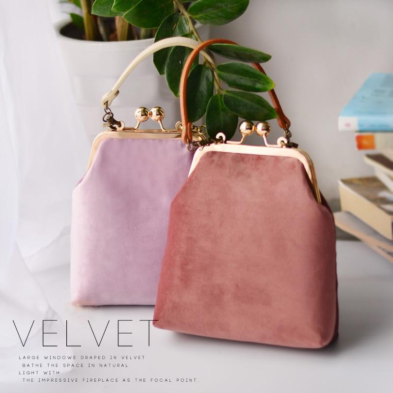 d2eb87bfb1f PU Women Handbag 18cm Metal Frame Bags Professiona Handmade DIY Crafts  Material Package Gift for Friend Travel