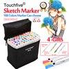 Touchfive 30 40 60 80 168Colors Pen Marker Set Dual Head Sketch Markers Brush Pen For
