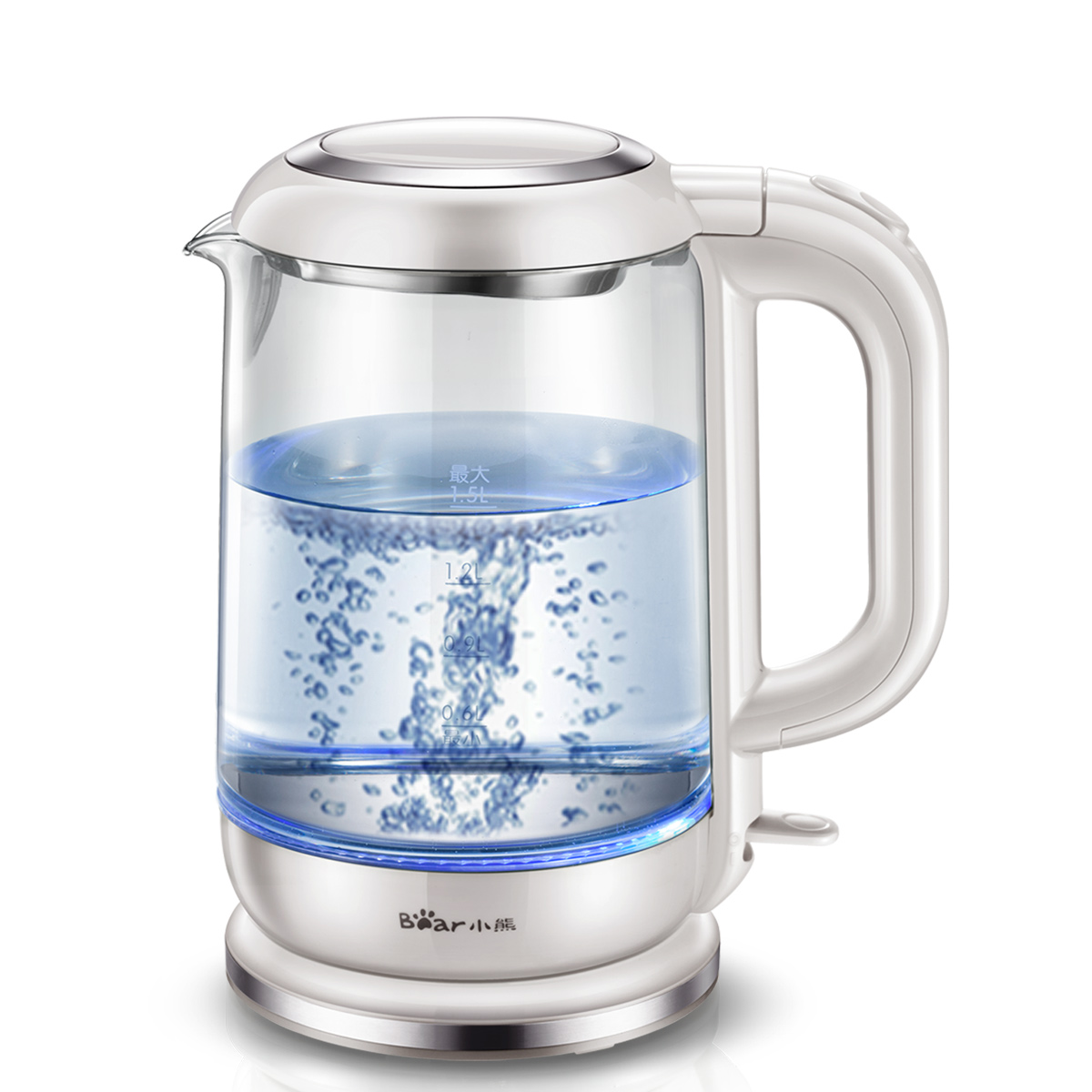 Household glass food grade 304 stainless steel electric kettle kitchen water pot