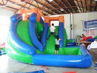 2016 Best Quality PVC Commericial Inflatable Slide With Climing Wall Inflatable Sports Entertainment Game