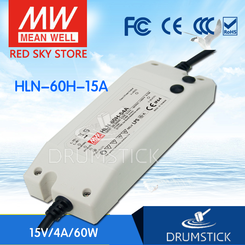 MEAN WELL HLN-60H-15A 15V 4A meanwell HLN-60H 15V 60W Single Output LED Driver Power Supply A type [cheneng]mean well original plc 60 15 15v 4a meanwell plc 60 15v 60w single output led power supply