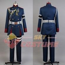 Seraph of the End Guren Ichinose Military Uniform Coat Shirt Pants Belt Gloves Full Set Halloween Cosplay Costume For Men