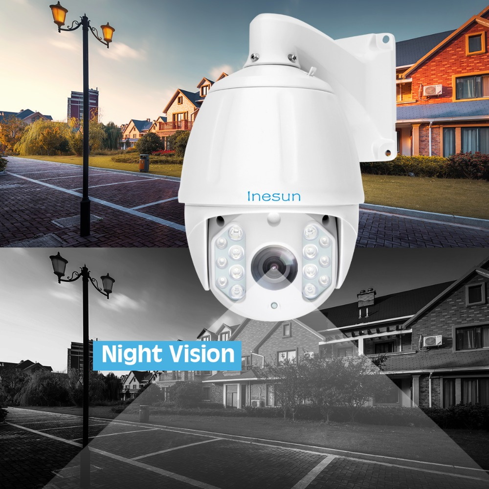 Image 4 - Inesun Outdoor PTZ IP Camera 2MP 5MP Super HD 2592x1944 30X Zoom PTZ Camera Waterproof High Speed Dome Cam 500ft IR Night Vision-in Surveillance Cameras from Security & Protection