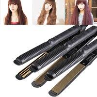 Professional Temperature Control Titanium Electronic Hair Straighteners Corrugated Curler Crimper Waves Iron Tools YF201