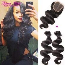 Mongolian Virgin Hair Body Wave 3 Bundles With Closure Sexy Formula Mongolian Hair Body Wave Human Hair With Closure Hair Weave