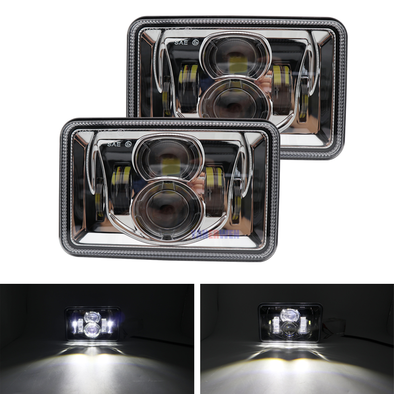 4x6 pouces projecteur rectangulaire LED phares de camion phares de LED de mer pour Peterbilt Kenworth T800 T400 T600 W900B/L camions lampe