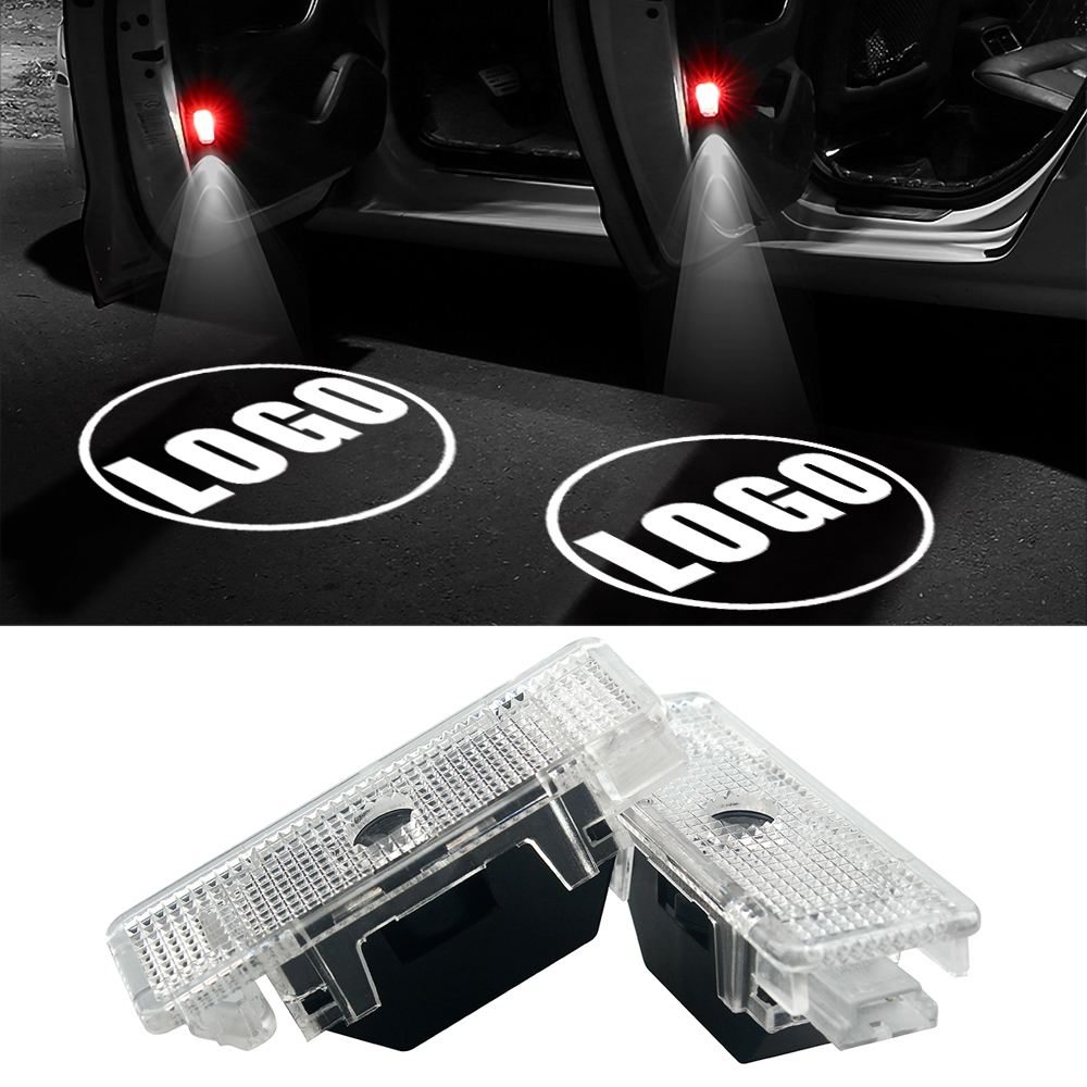 2pcs Decorative Lamp LED Ghost Shadow Light for BMW E39 E53 X5 E52 528i Car-styling LED Car Door Light Welcome Warning Lights