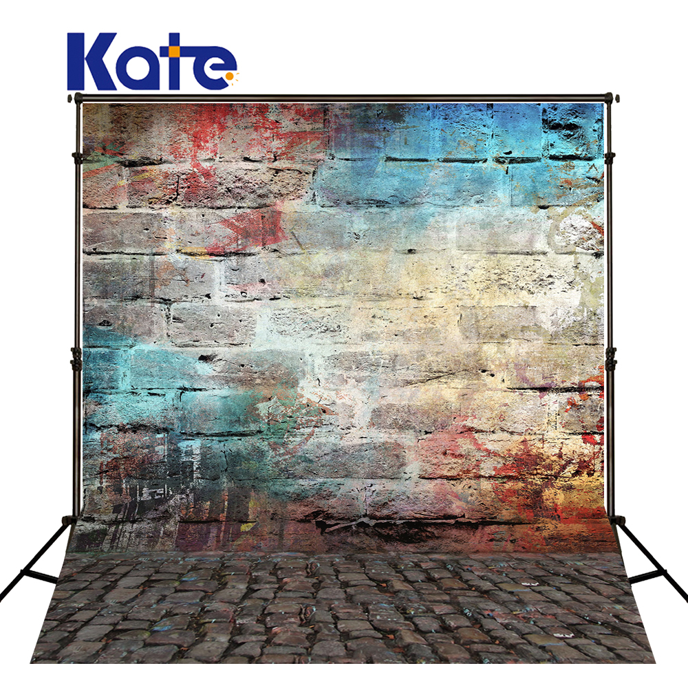 KATE Photography Backdrop graffiti backdrop Brick Floor Background fundo fotografico para estudio newborn backgrounds for Studio 600cm 300cm fundo snow footprints house3d baby photography backdrop background lk 1929