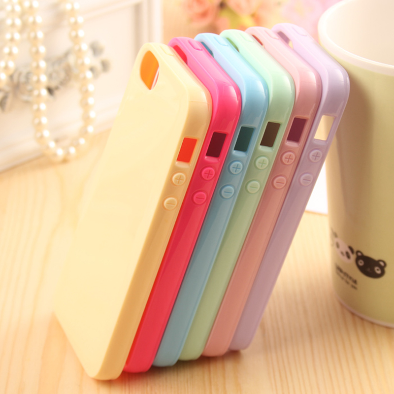 Solid Candy Color Rubber Case for iPhone 5 5s Case Silicon Soft TPU Cover Mobile Phone Cases Bag for Apple <b