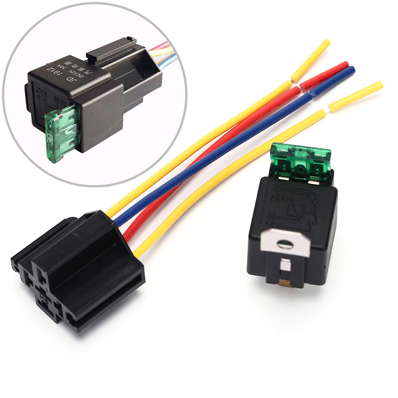 12V 4pin With Copper Terminal Auto Relay With Relay Socket  Waterproof Automotive Relay 12v 5pin 40a Car Relay