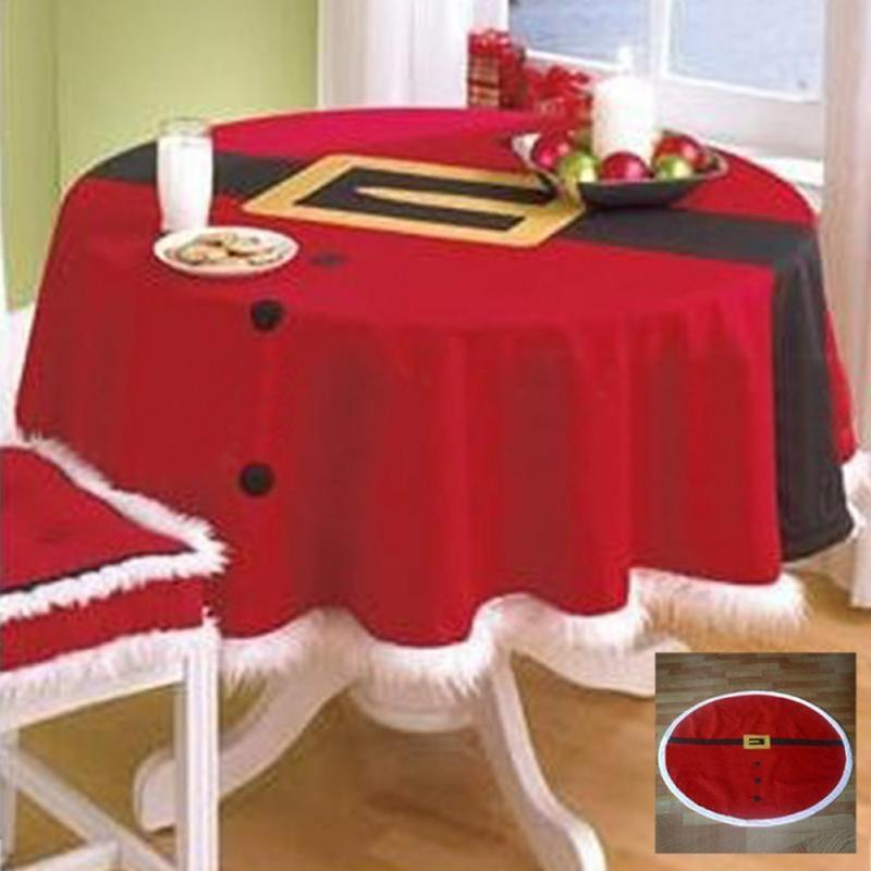 Home Table Decoration cloth Christmas Tablecloth Square 148cm 58.27inches Joyous Red Christmas Table Cloth R3