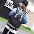College student book bag fashionable canvas women's men's backpack lovers big travel bag laptop bag