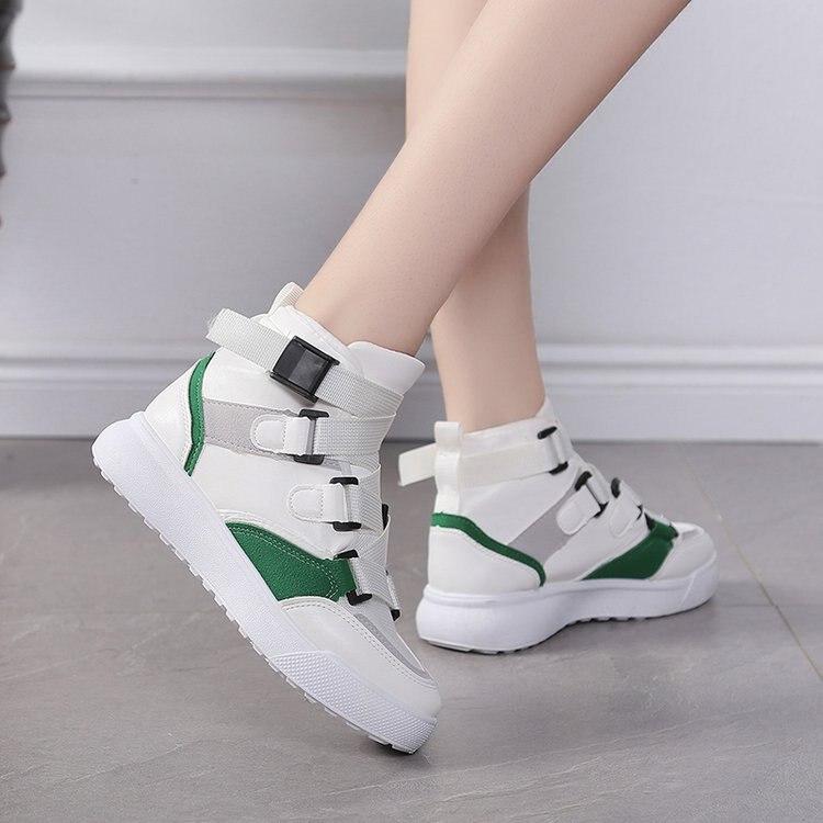 green Blanco Botay804 Narrow Band Plataforma Air Transpirable Tobillo De Casual Zapatos Brown Botas Top Señoras Mujer Peluche Las Mesh U1q66R