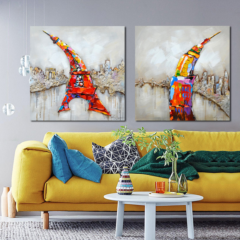 2016 Confetti <font><b>Rooster</b></font> Chicken Wall Art Handmade Oil Painting Canvas Big Size For <font><b>Home</b></font> Lliving Room Bedroom <font><b>Decoration</b></font>