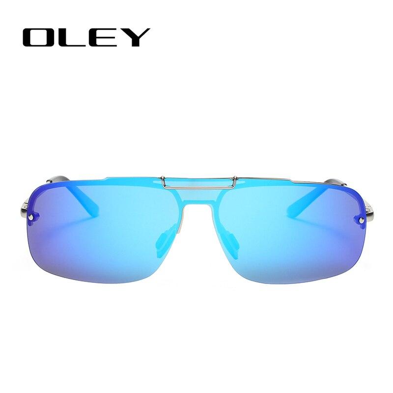 OLEY Fashion Brand Frameless Sunglasses Polarized Men Overall Lens Color Film Glasses Outdoor Anti-glare UV400 Goggles YA431