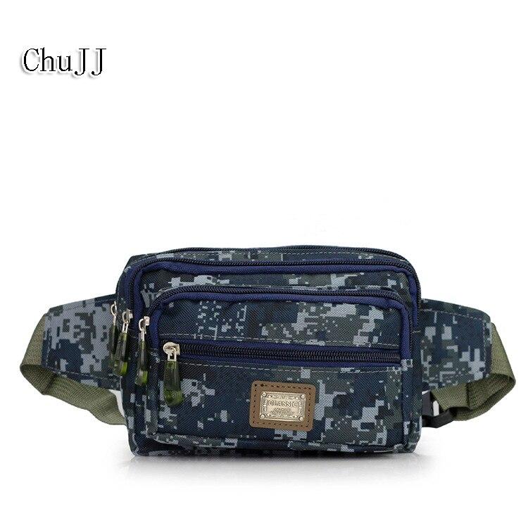 Chu JJ Casual Canvas Men Bags Waist Packs Purse Men Portable Camouflage Men Waist Bags Travel Belt Wallet Unisex Chest Bag