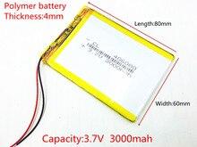 Bateria de Lítio Polímero com Protection Board para Vx787 406080 3.7 V 3000 Mah Vx530 Vx540t Vx585 Frete Grátis