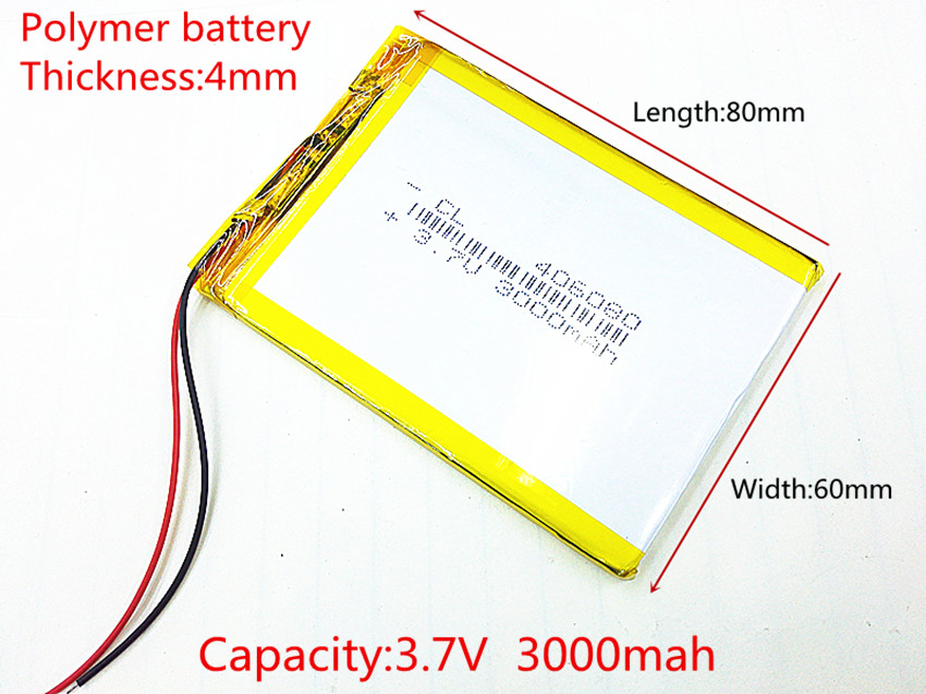 406080 3 7V 3000mah Lithium polymer Battery with Protection Board For VX787 VX530 VX540T VX585 Free