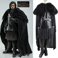 Free DHL New arrival 2016 Game of Thrones jon snow carnival costume adult men cosplay Jumpsuits Jacket cloak glove full set