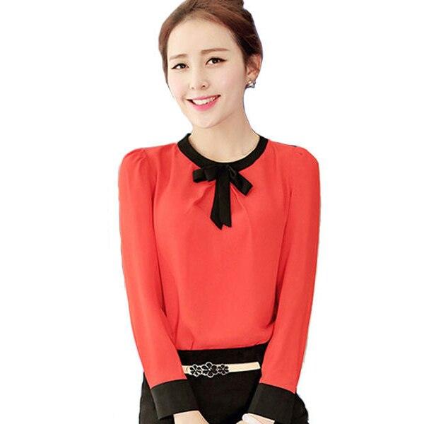faf23e82babf6 Black red blouse long sleeve shirt women tops blusas plus size top body  chiffon women clothing ropa mujer blusas femininas WD339