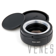 VENES M42 lens to NEX Focal Reducer Speed Booster, Adapter ring for Sony E Mount Camera NEX A6000 A3000 3N 6 5R